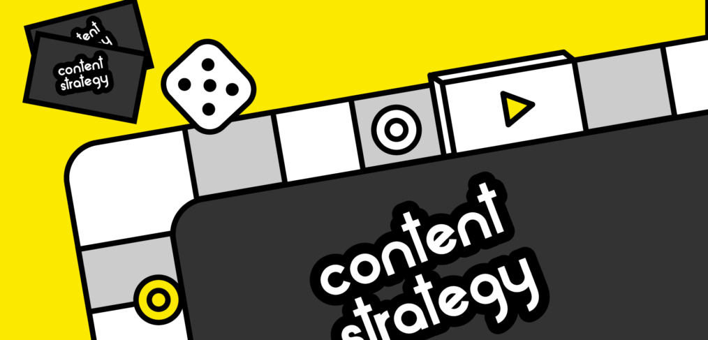 visual of a monopoly board to support the concept behind content strategy
