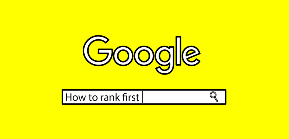 Google search bar on how to rank first in search results