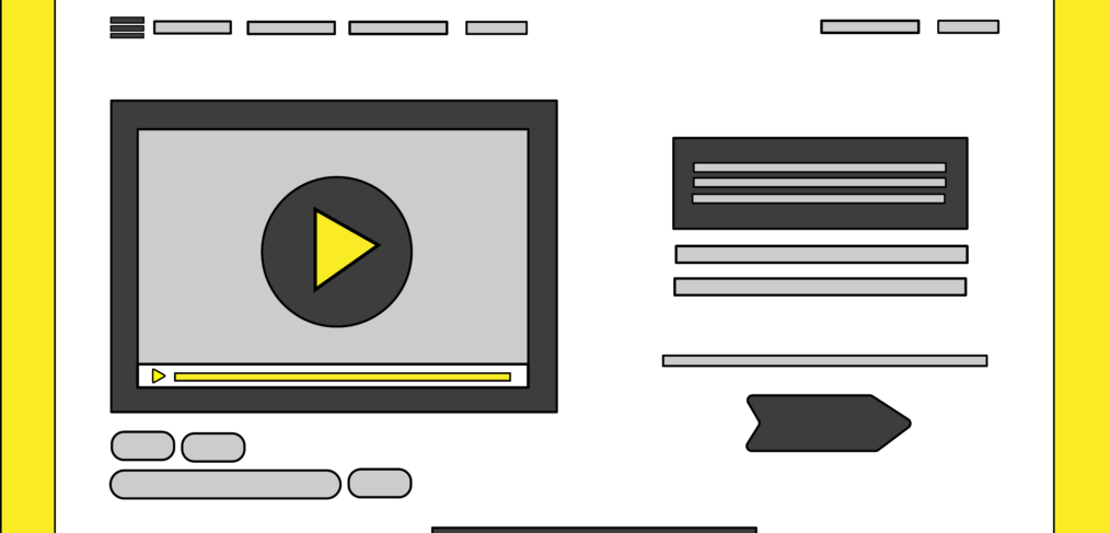 a visual showing a landing page with explainer video